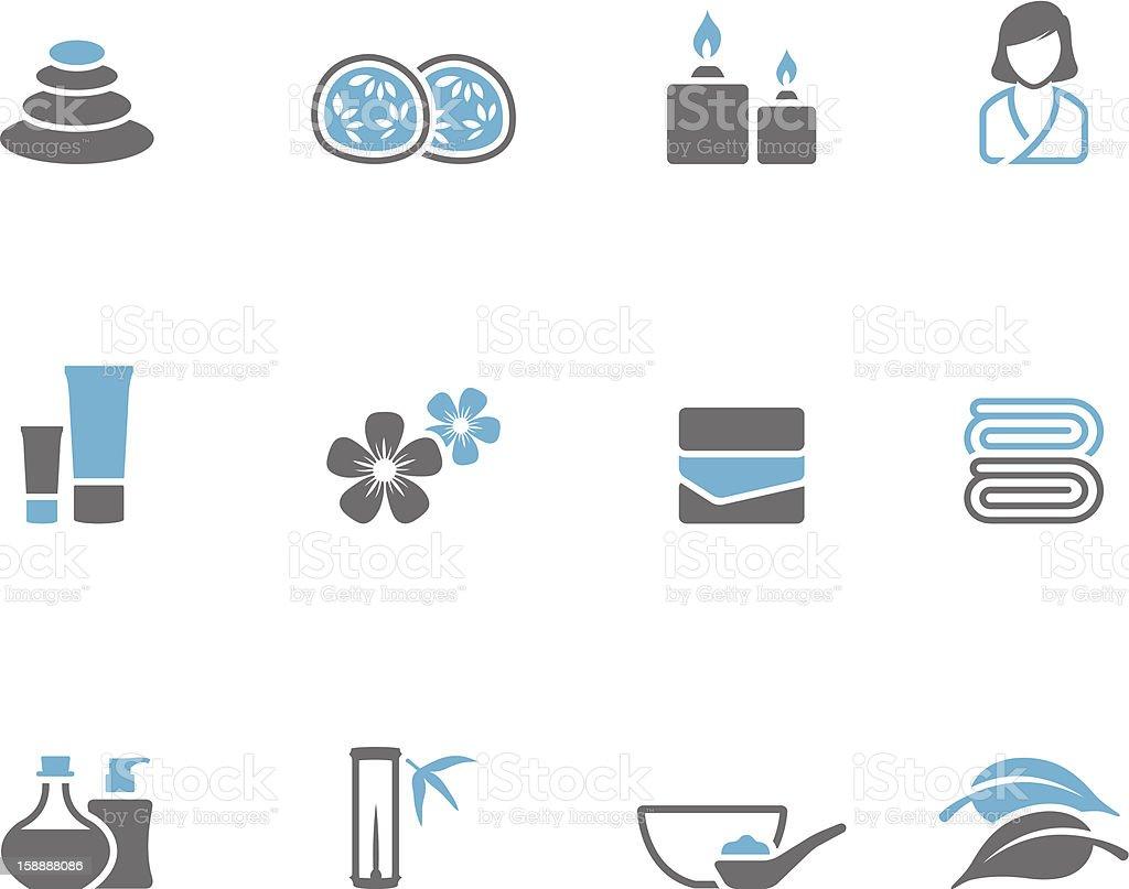 Duotone Icons - Spa royalty-free stock vector art