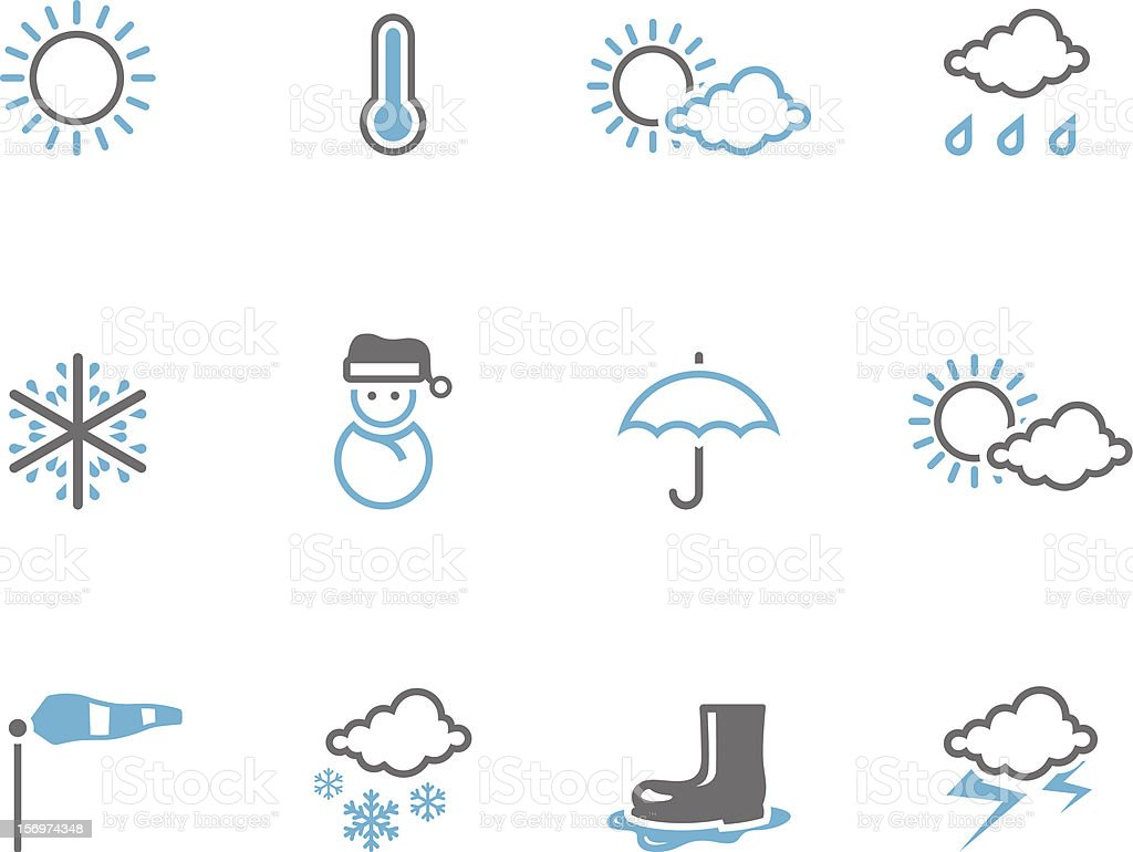 Duotone Icons - Weather royalty-free stock vector art