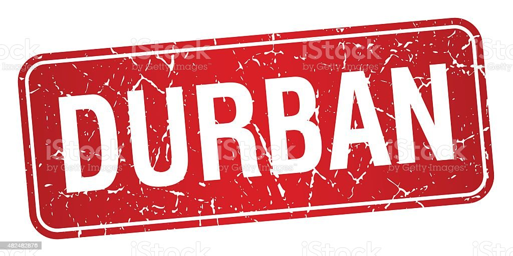 Durban red stamp isolated on white background vector art illustration