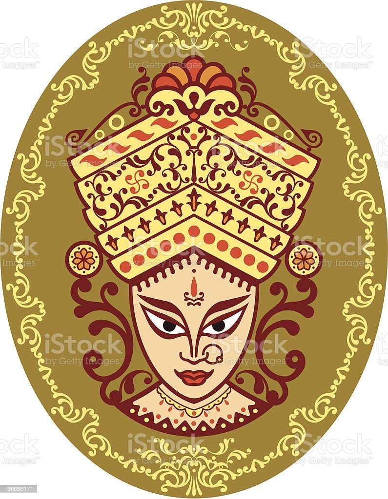 Durga Indian Goddess royalty-free stock vector art