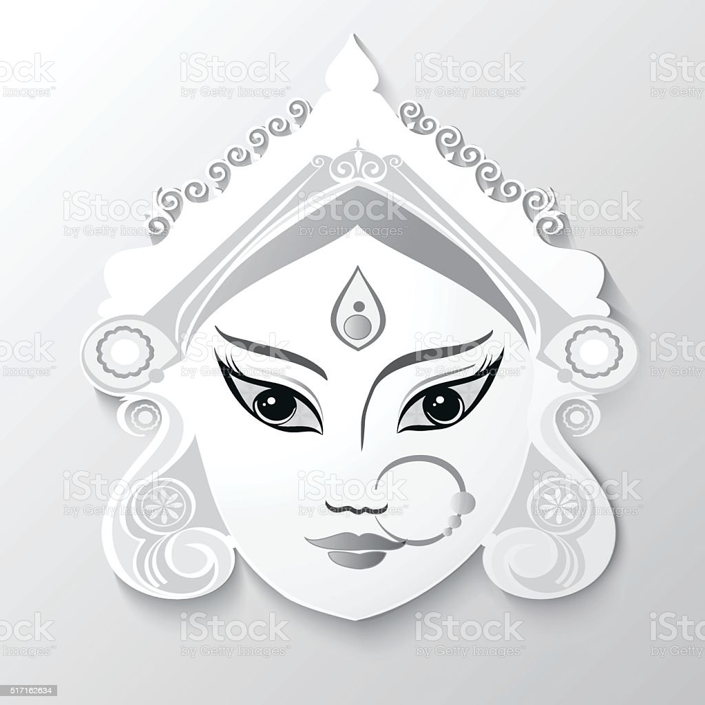 Durga Saraswati Lakshmi In Hand Drawn Style Stock Vector
