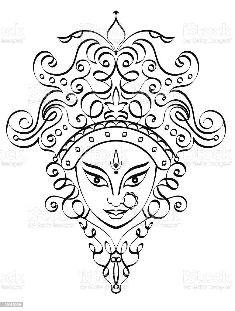 Durga royalty-free stock vector art