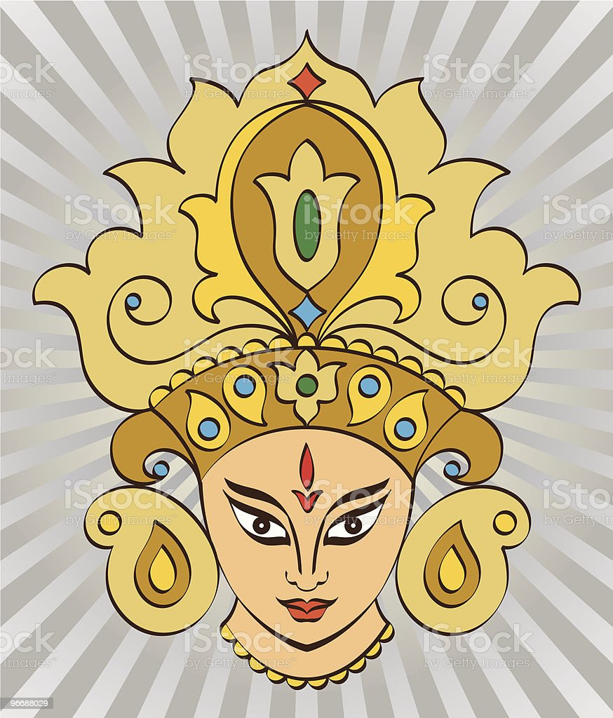 Durga vector art illustration