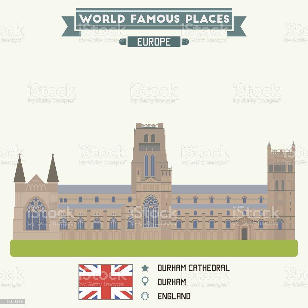 Durham Cathedral vector art illustration