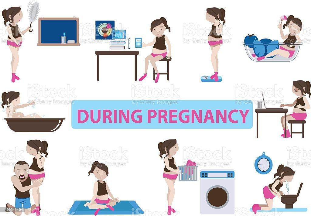 Durante la gravidanza illustrazione royalty-free
