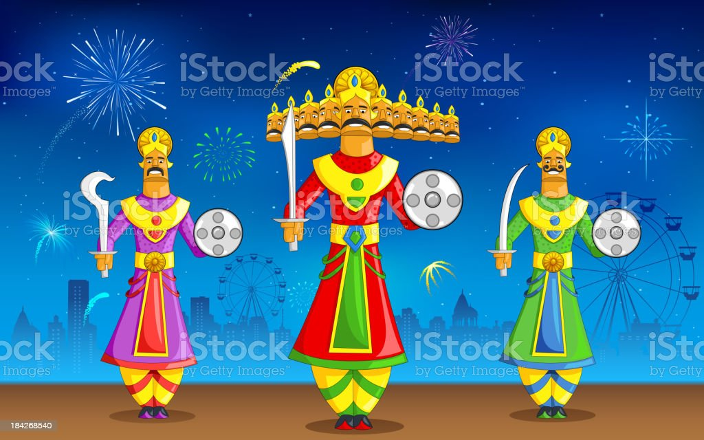 Dusshera royalty-free stock vector art