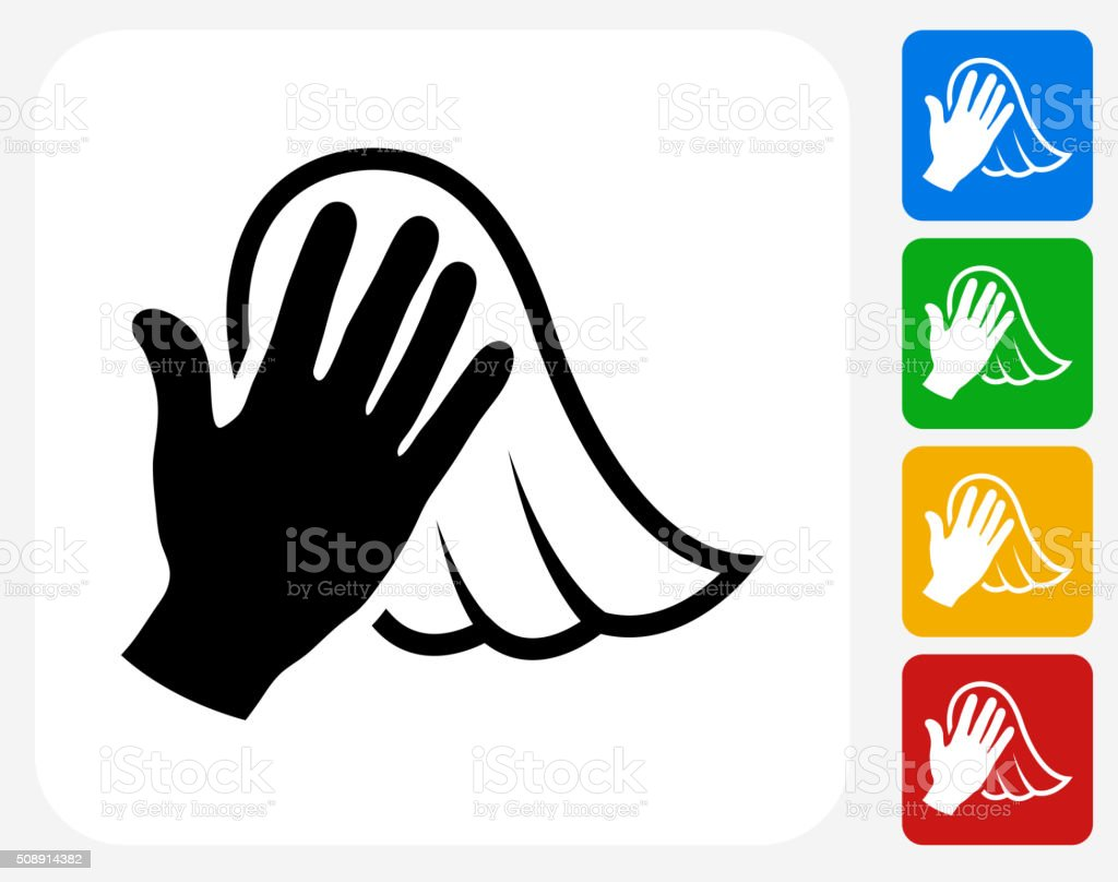 Dusting Icon Flat Graphic Design vector art illustration
