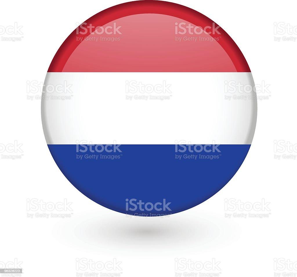 Dutch flag vector button vector art illustration