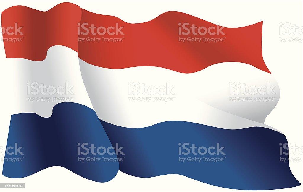 Dutch flag royalty-free stock vector art