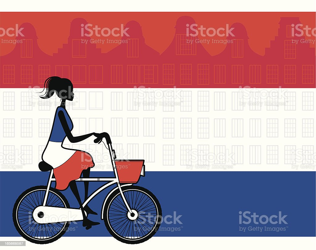 Dutch Girl royalty-free stock vector art