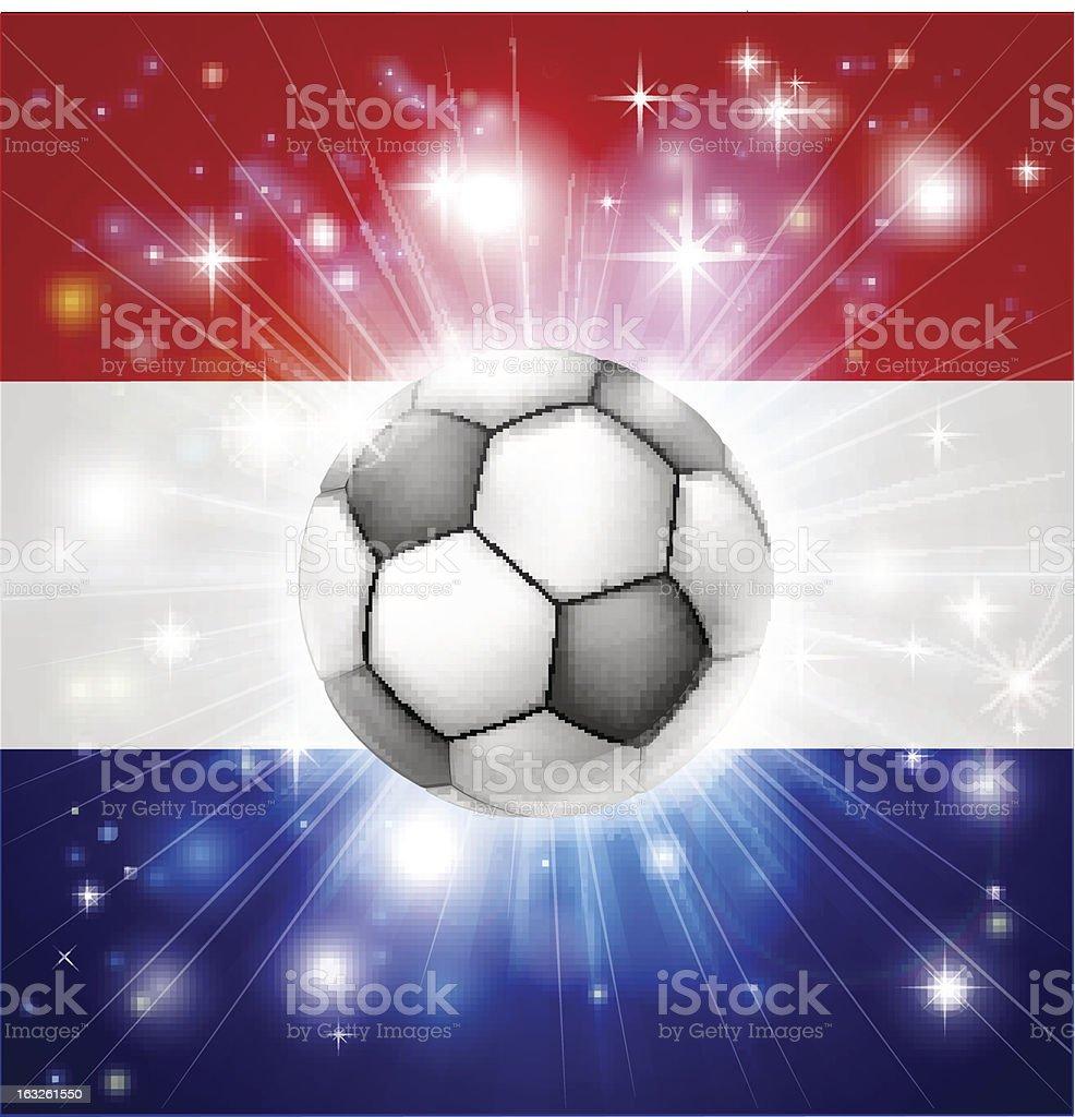 Dutch soccer flag royalty-free stock vector art