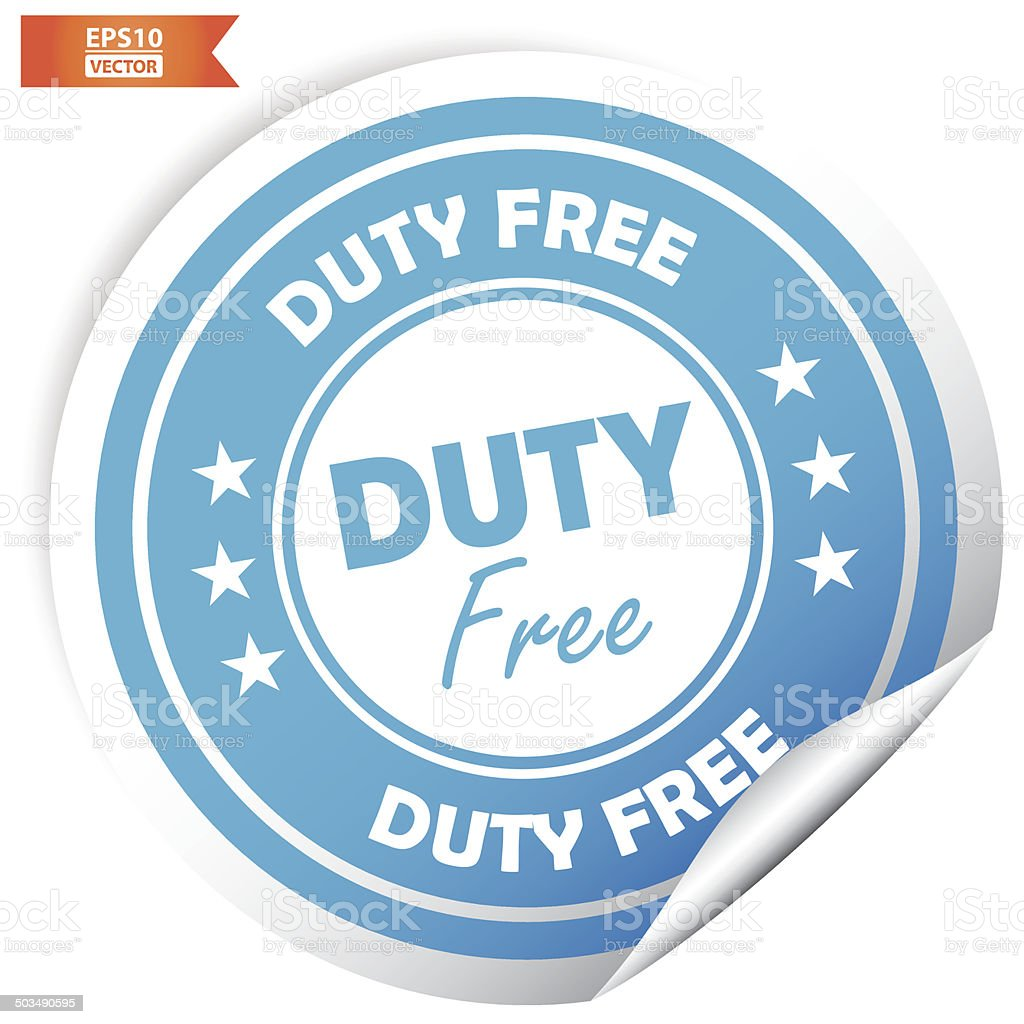 Duty free sticker. Eps10 Vector royalty-free stock vector art
