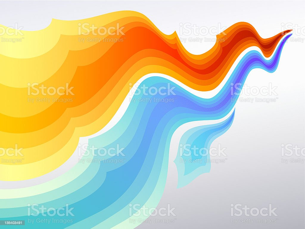 Dynamic Flow Background royalty-free stock vector art