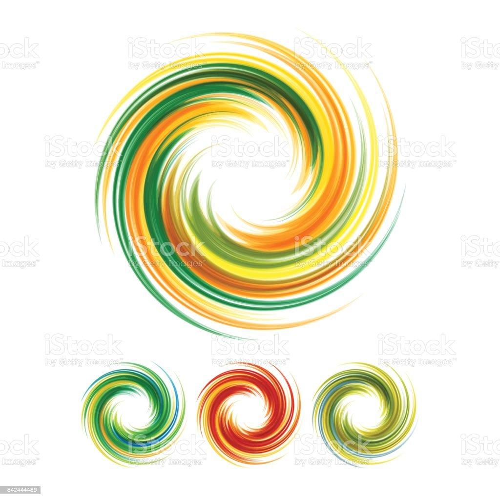 Dynamic Flow Illustration. Swirl Background. vector art illustration