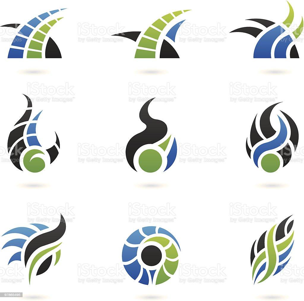 Des formes et des éléments de design graphiques stock vecteur libres de droits libre de droits