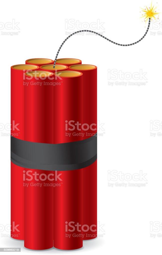 Dynamite explosive vector art illustration