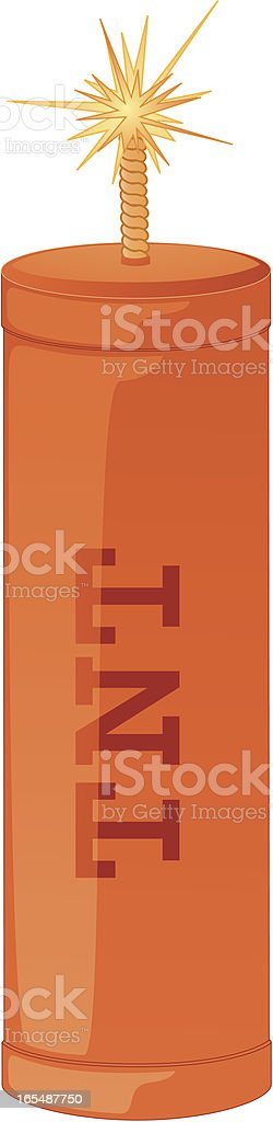Dynamite Stick royalty-free stock vector art