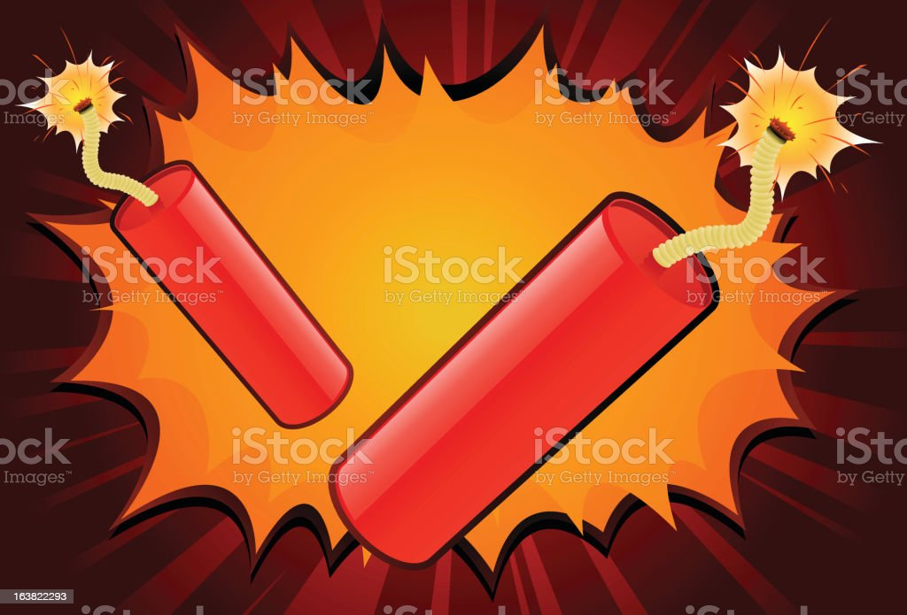 Dynamite! royalty-free stock vector art