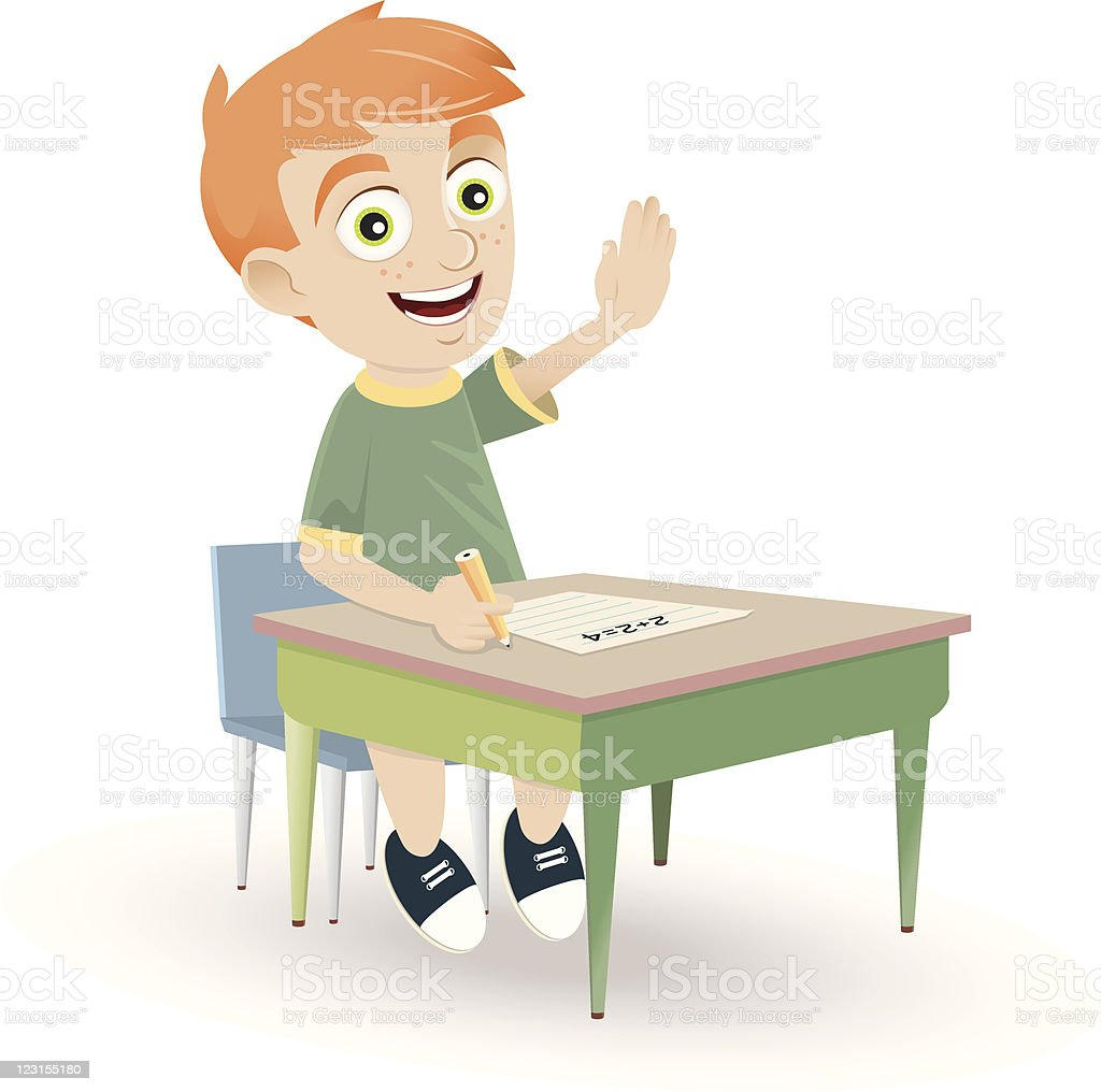Eager Student royalty-free stock vector art