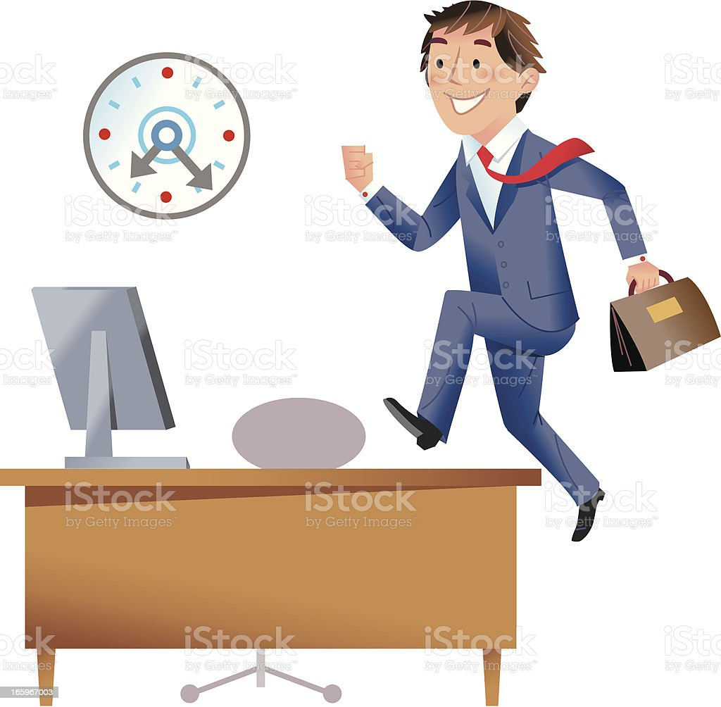 Eager to start work! royalty-free stock vector art