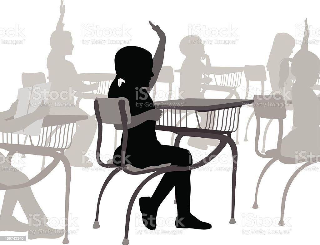 EagerStudent vector art illustration