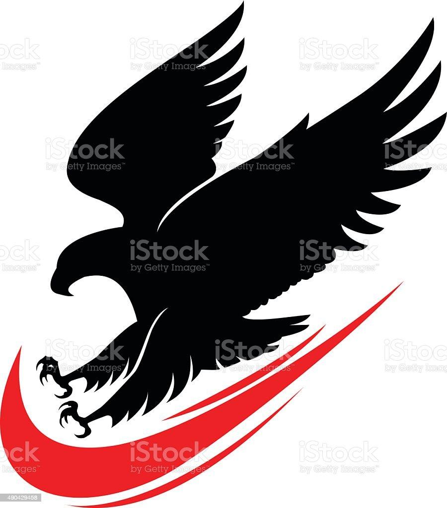 eagle attack vector art illustration