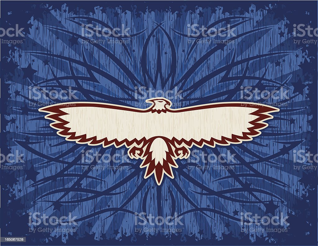 Eagle Banner Background royalty-free stock vector art