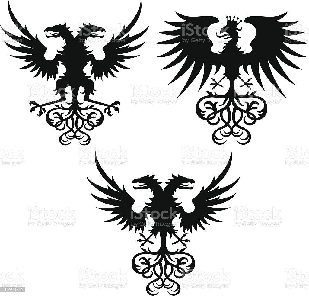 eagle stemma con illustrazione royalty-free