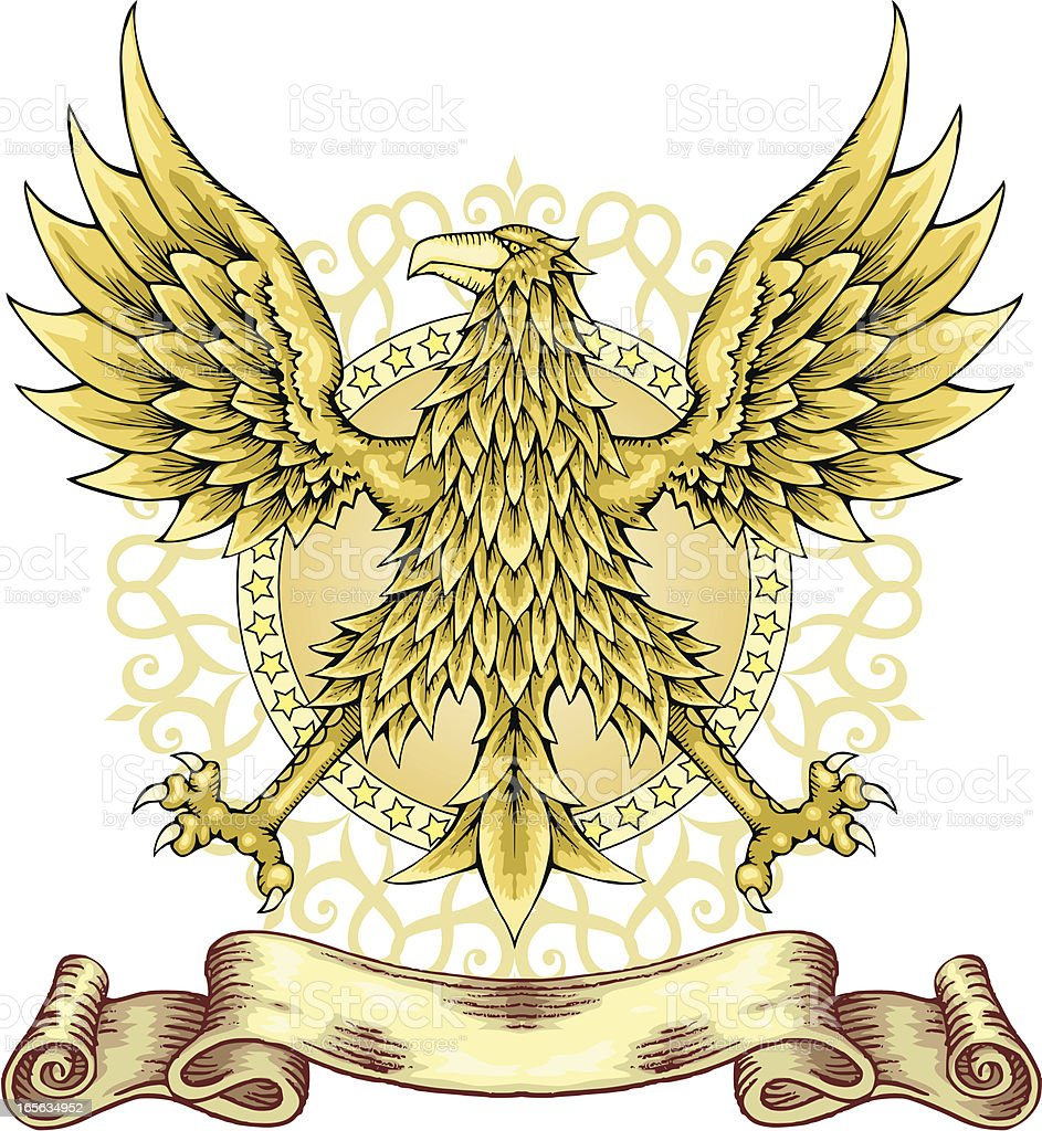 Eagle emblem. royalty-free stock vector art