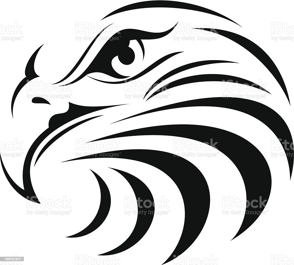 Eagle Face silhouette royalty-free stock vector art