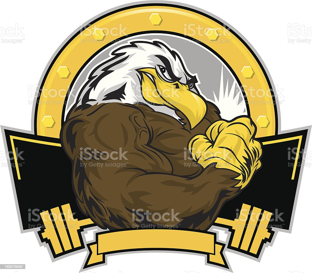 Eagle Flex vector art illustration