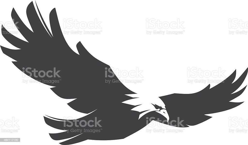 Eagle Fly vector art illustration