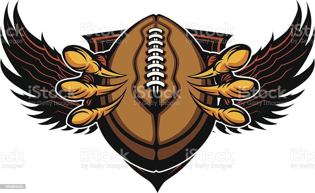 Eagle Football Talons and Claws Vector Illustration vector art illustration