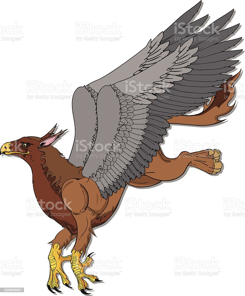 Eagle Griffin vector art illustration