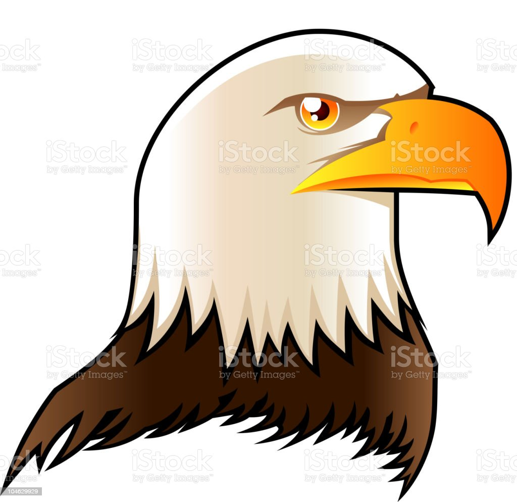 Eagle head symbol shield icon vector art illustration
