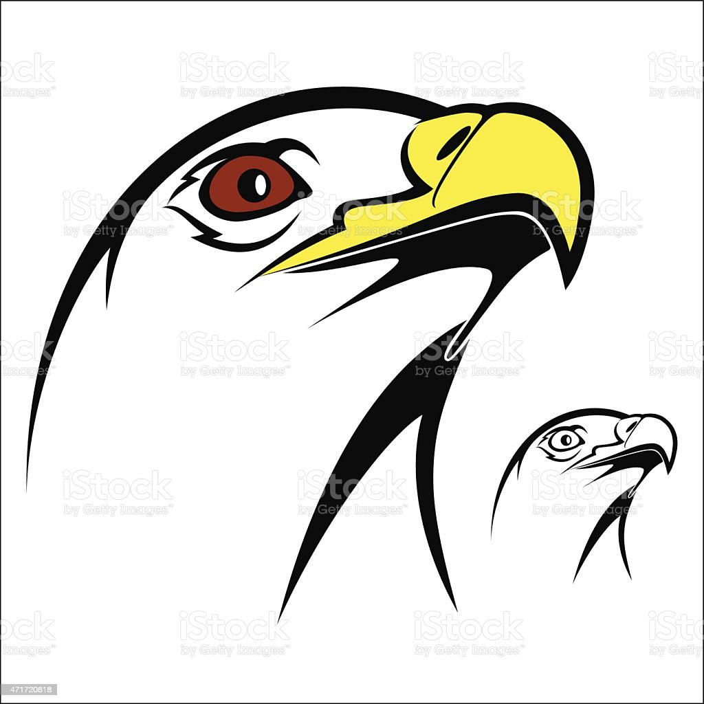 Eagle head royalty-free stock vector art