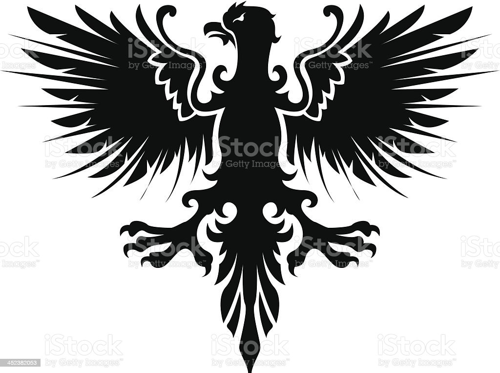 Eagle heraldic royalty-free stock vector art