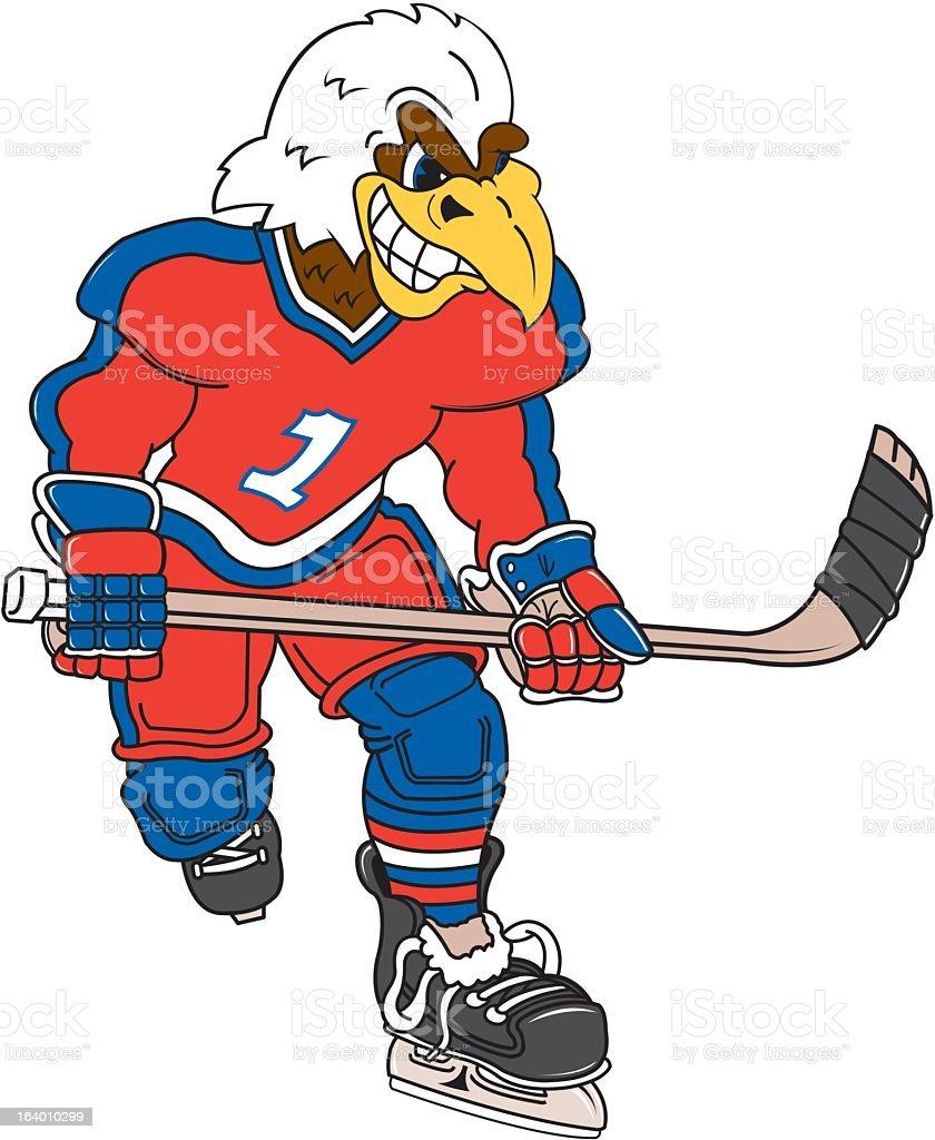 Eagle Hockey Player royalty-free stock vector art