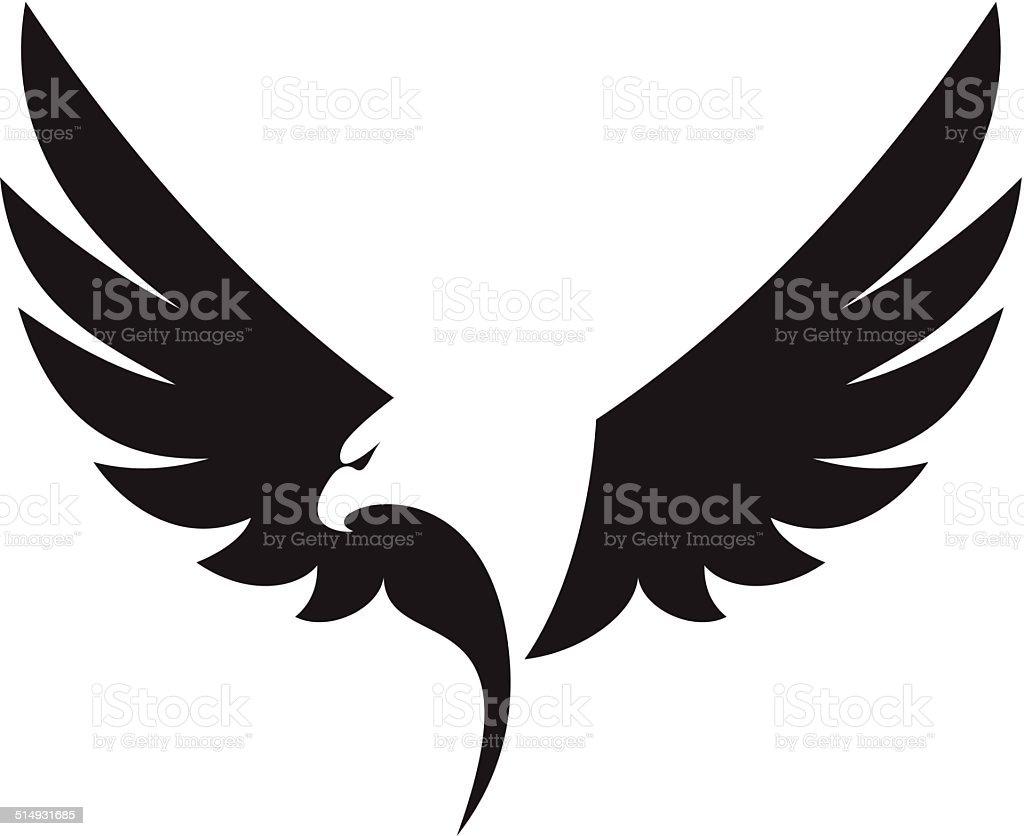 Eagle icon vector art illustration