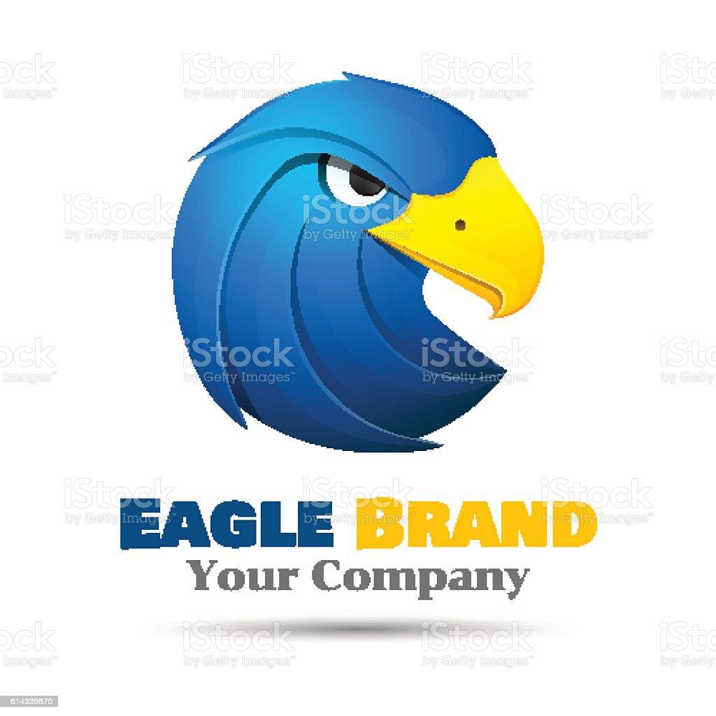 Eagle logo template. Vector business icon. Corporate branding identity design vector art illustration