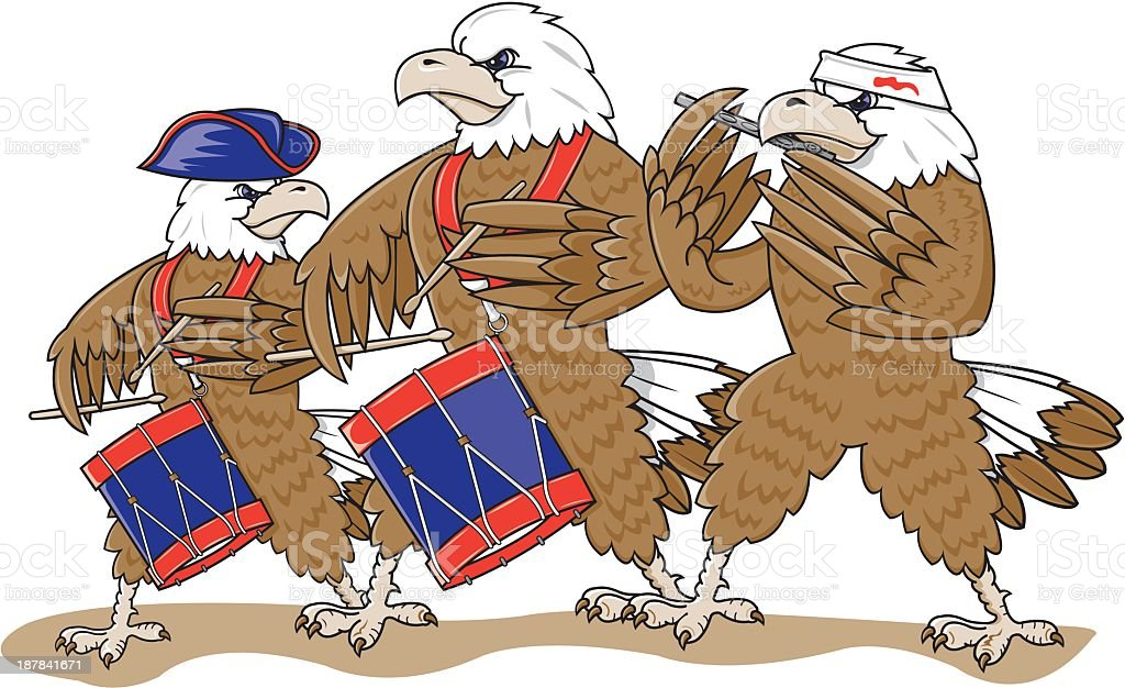 Eagle Marching Band royalty-free stock vector art