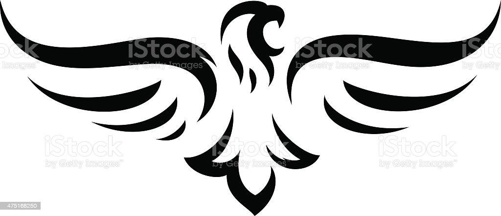 Eagle mascot vector art illustration
