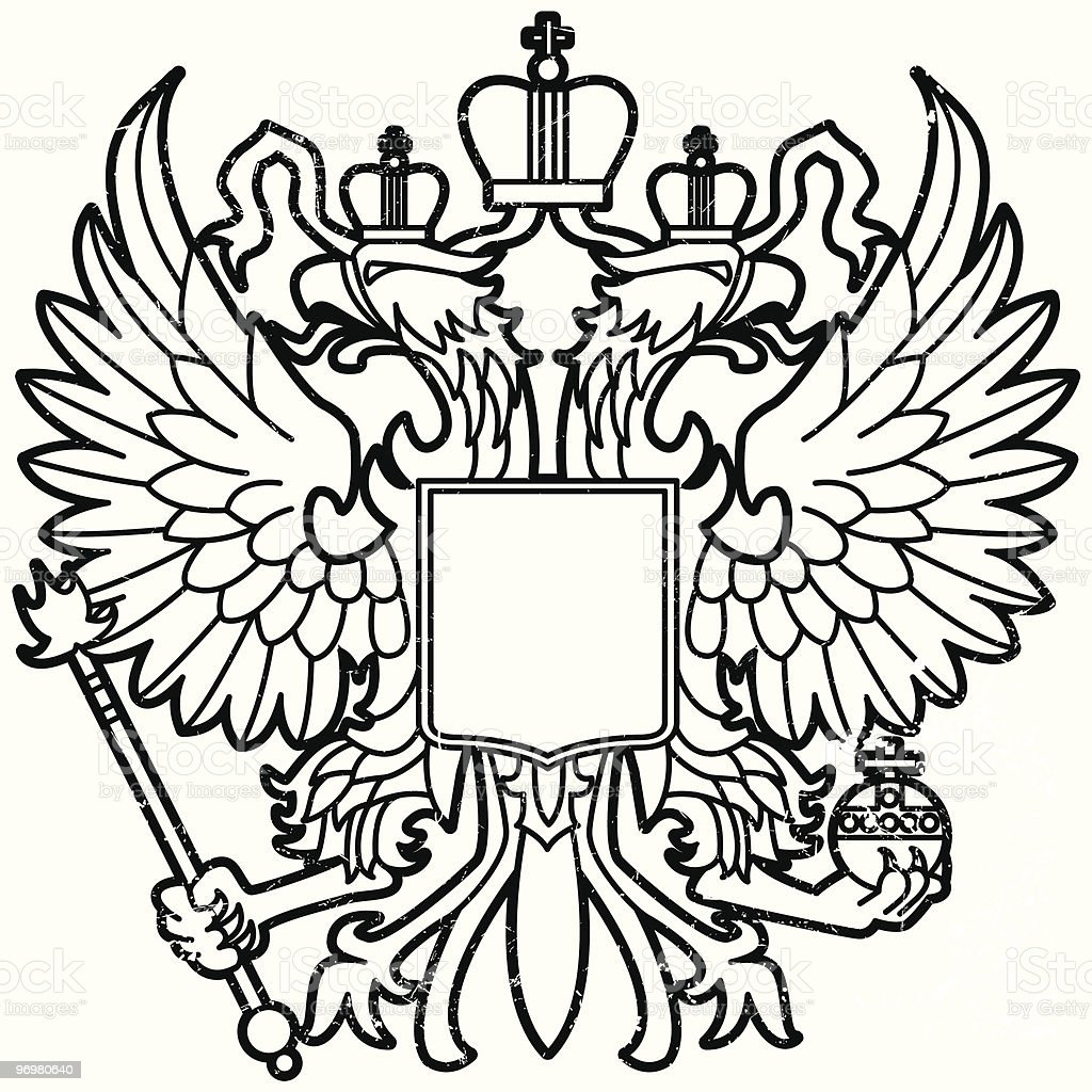 Eagle of Mother Russia vector art illustration