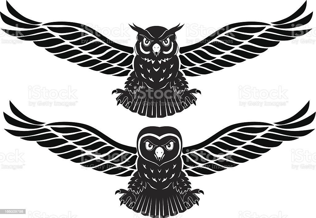 eagle owl vector art illustration