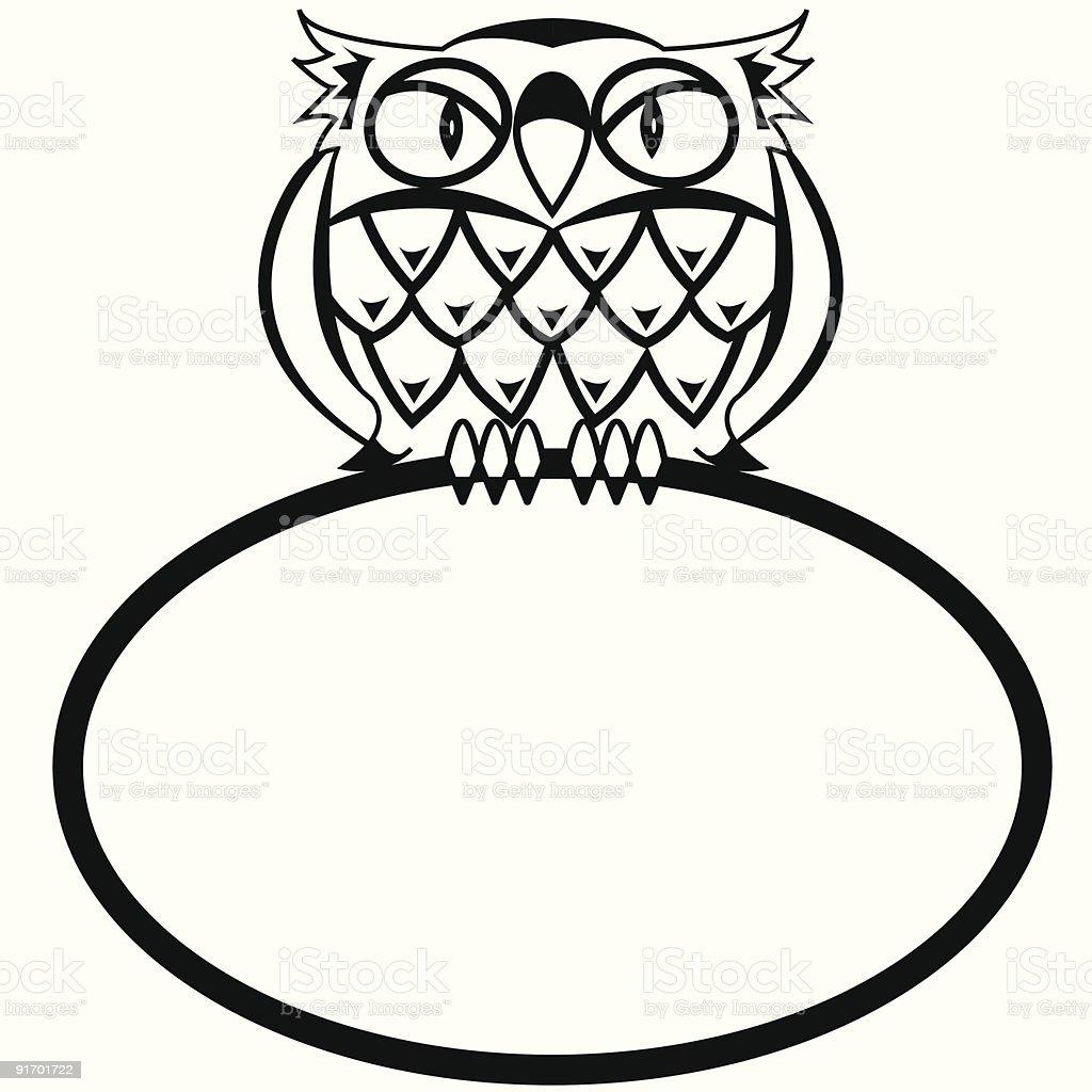 Eagle Owl royalty-free stock vector art