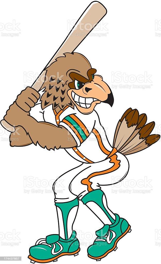 Eagle Playing Baseball royalty-free stock vector art