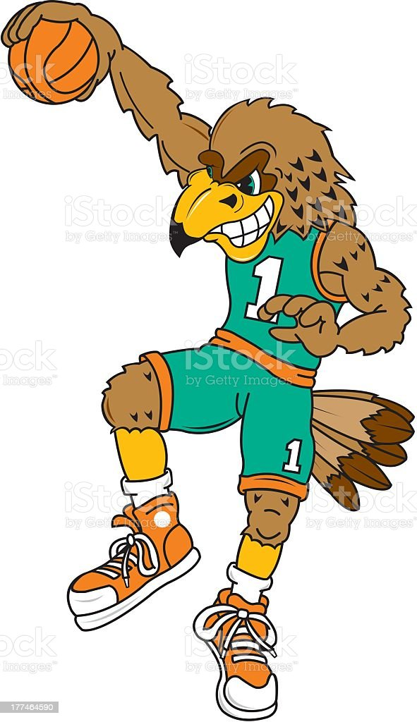 Eagle Playing Basketball royalty-free stock vector art