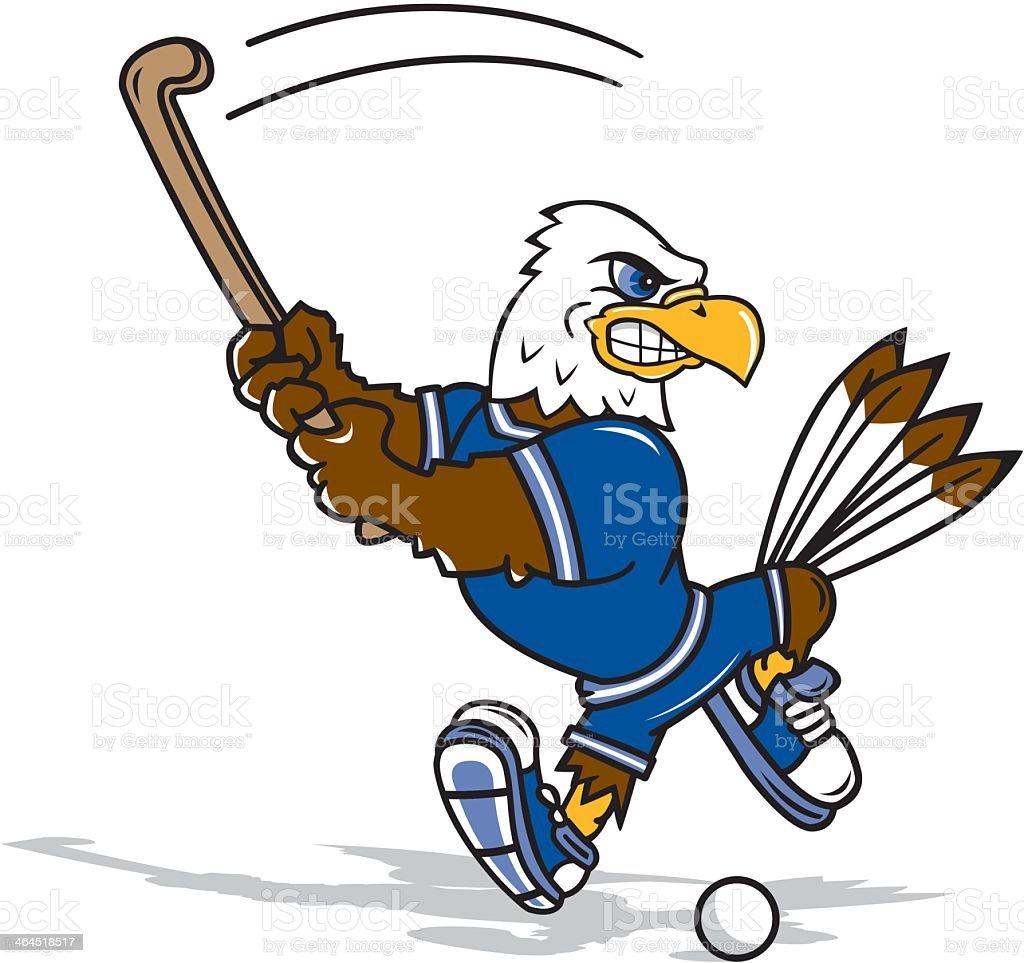 Eagle Playing Field Hockey royalty-free stock vector art
