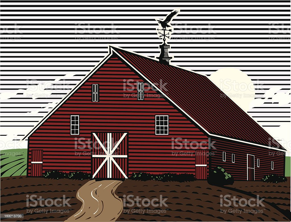 Eagle Roost Farm royalty-free stock vector art
