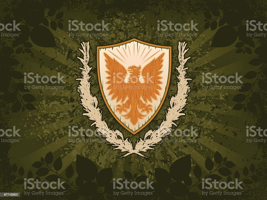 Eagle Shield Grunge Background royalty-free stock vector art